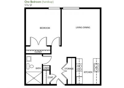 One Bedroom (handicap)